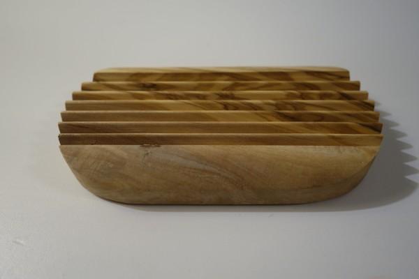 Seifenablage 12cm x 8cm aus Olivenholz rechteckig