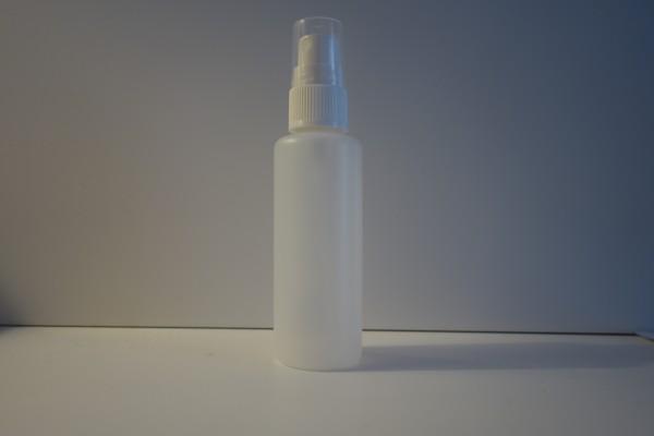 Sprühflasche halbtransparent rund 50 ml