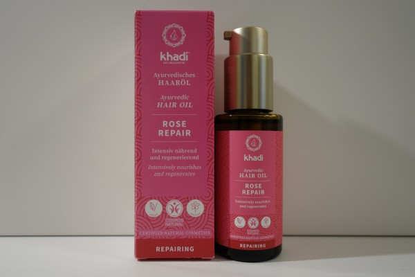 khadi Ayurvedisches Haaröl ROSE REPAIR 50ml