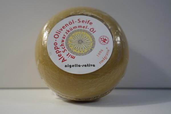Aleppo Olivenöl Seife mit Schwarzkümmel-Öl