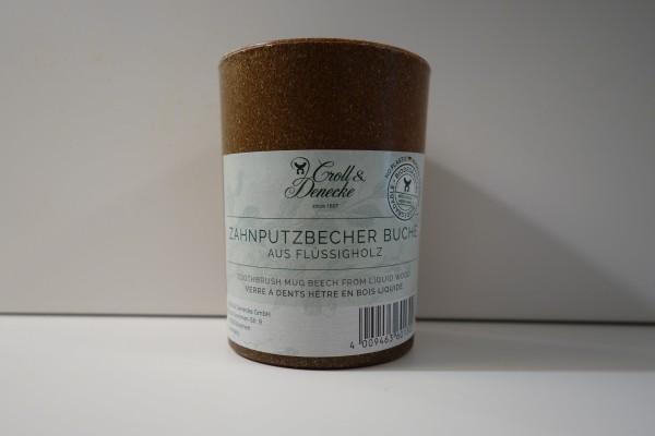 Zahnputzbecher Buche aus Flüssigholz