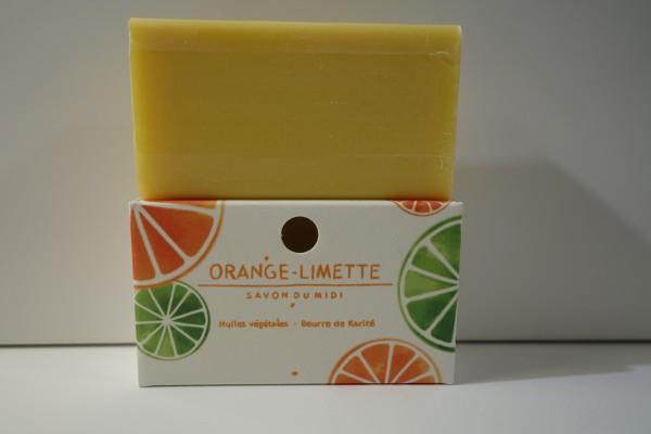 Savon du Midi Karitéseife Orange-Limette 100gr.