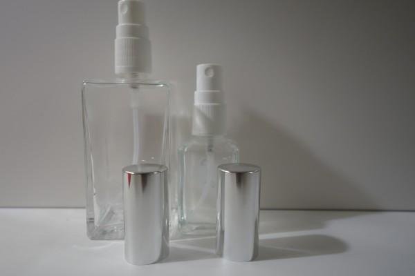 Zerstäuber quadratisch Glas klar 50ml / 100ml