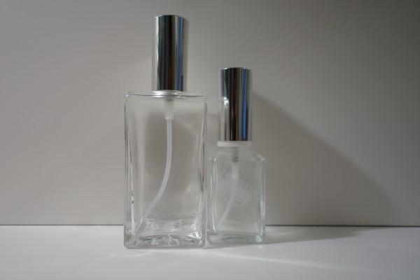 Zerstäuber quadratisch Glas klar 30ml / 100ml