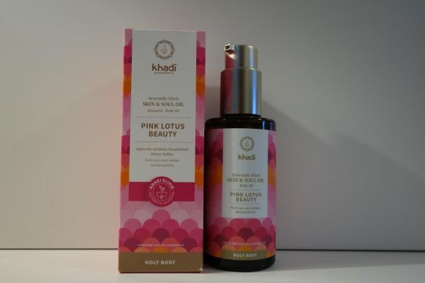 khadi Ayurvedisches Elixier Skin & Soul Oil PINK LOTUS BEAUTY 100ml