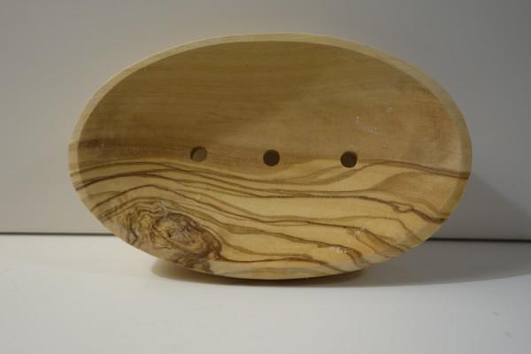 Seifenschale 12cn x 8cm aus Olivenholz oval