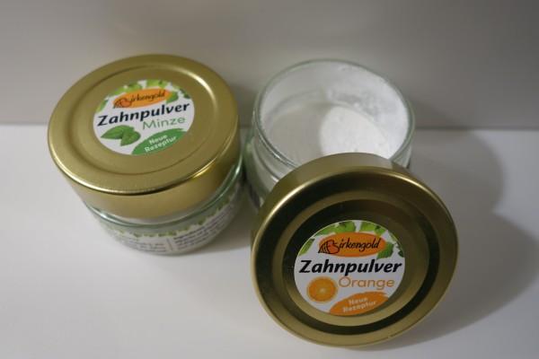 Zahnpulver mit Xylit Minze I Orange I Kräuter 30g.