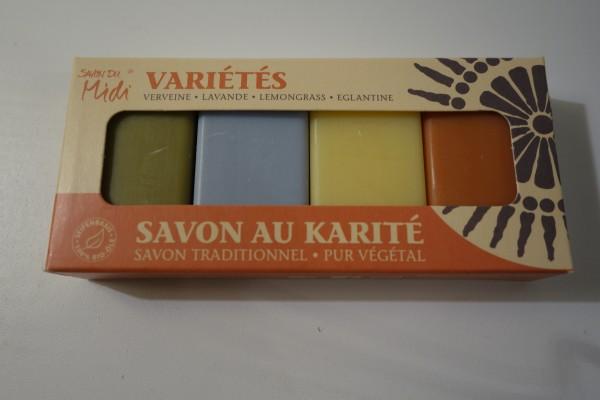 Savon du Midi Karité Gästeseifen Variétés 4x20gr