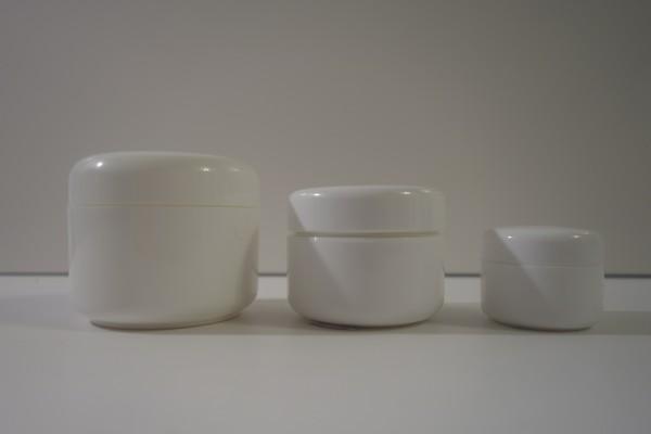 Cremedose weiß doppelwandig 15ml, 30ml, 50ml