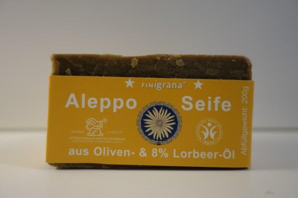 Aleppo Seife aus Oliven & 8% Lorbeeröl